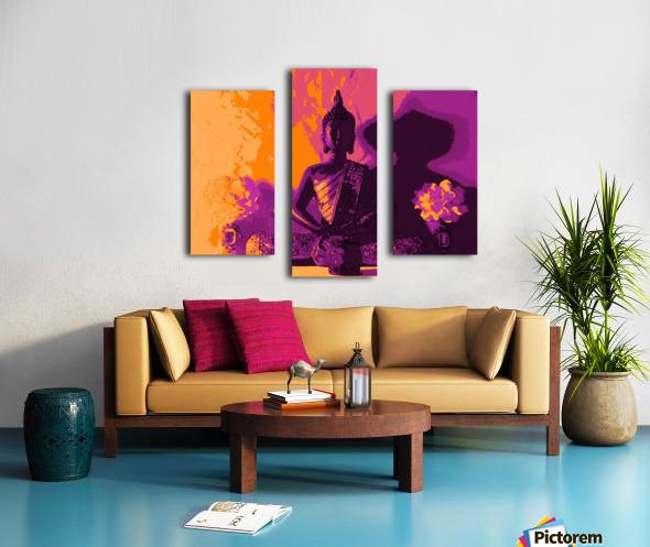 Buddha Altar -- Sunset Colors Canvas print