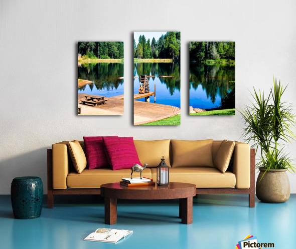 Saturated Scene Canvas print