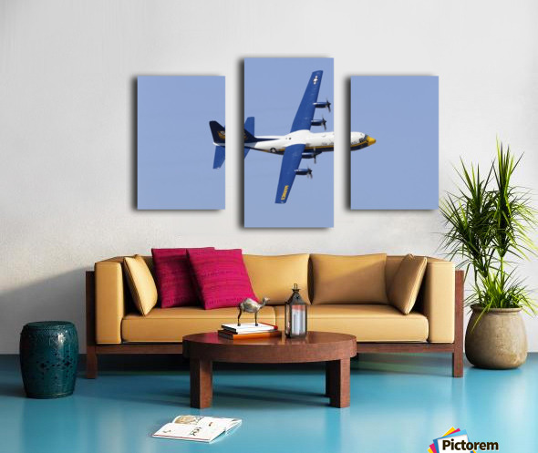 A C-130 Hercules of the Blue Angels flight demonstration squadron. Canvas print