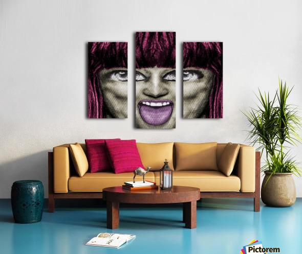 Daring Pop Teen Portrait Canvas print