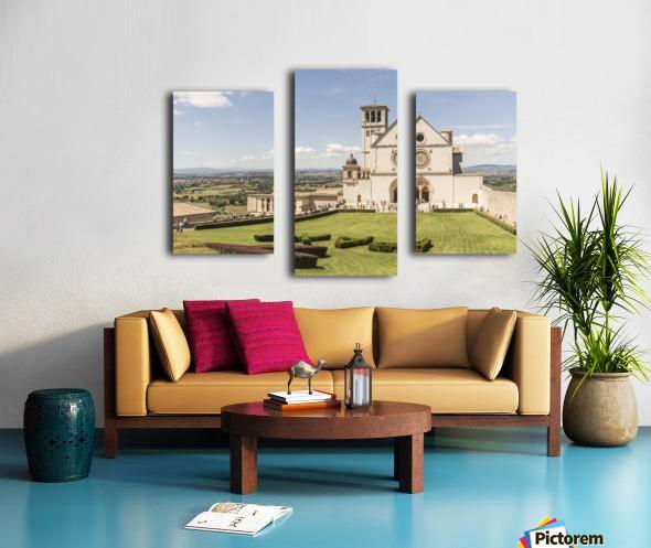 Assisi church Canvas print