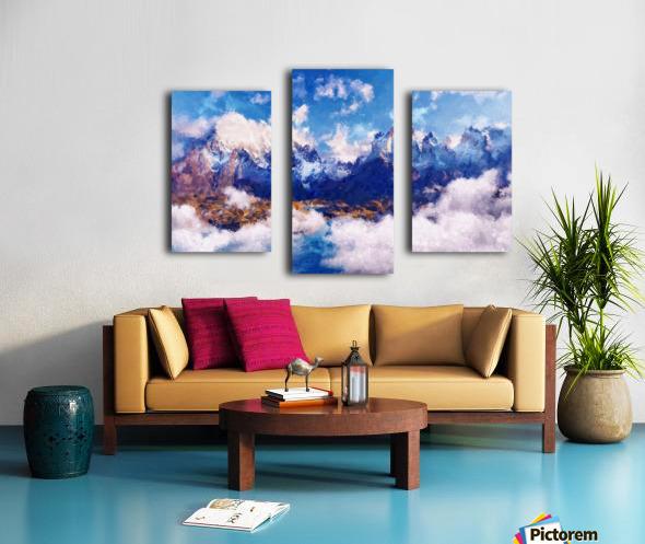 Mountains Artwork II Canvas print