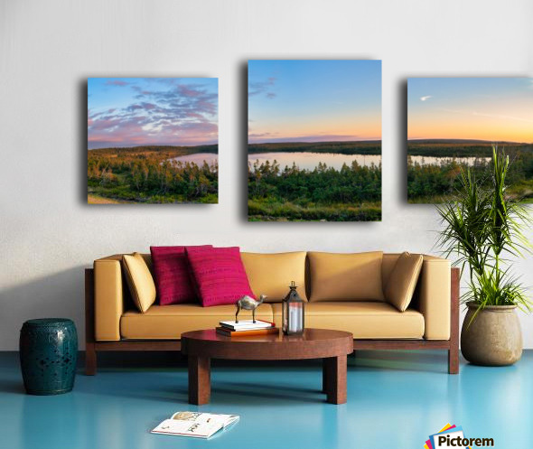French Lake Sunset Canvas print