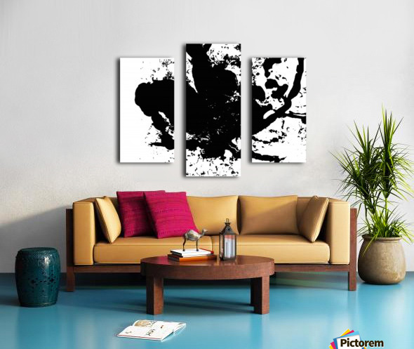 Surprise Black and White Canvas print