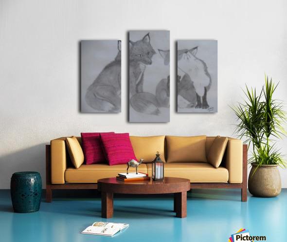 Fox Pair Canvas print