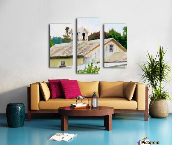 Cummington Barn Roofs Canvas print
