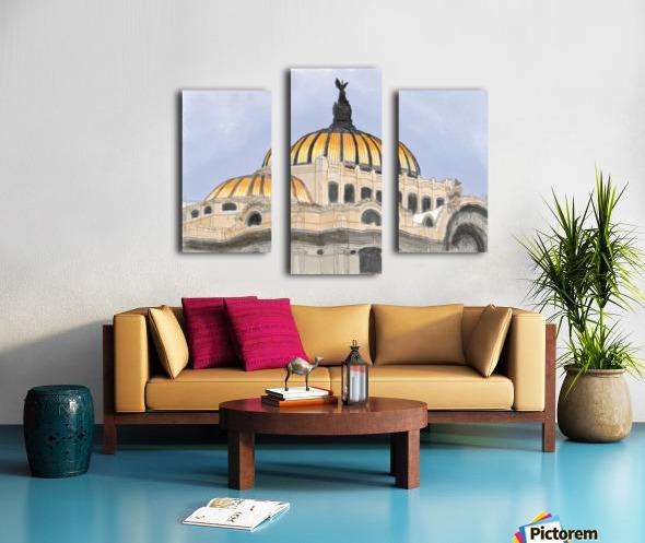 Mexico City Palacio Bellas Artes Canvas print