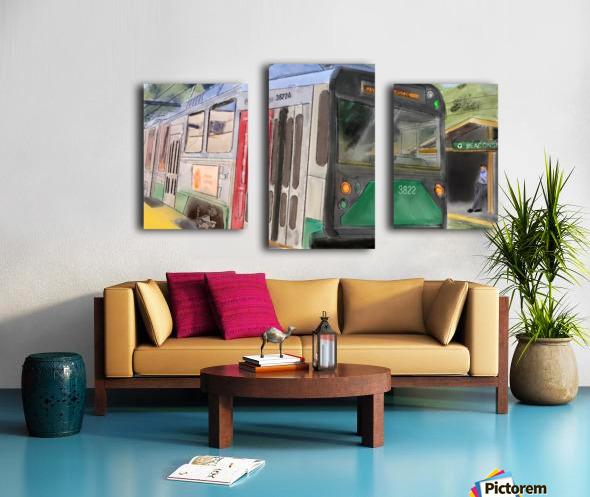 MBTA Green Line Trolly Canvas print