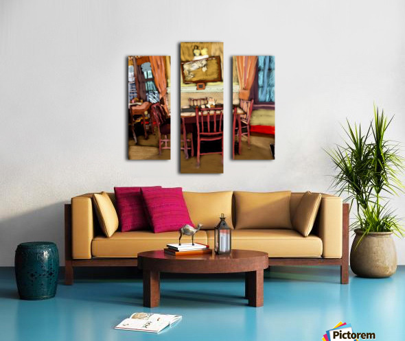 The Hedges Dining Room Canvas print
