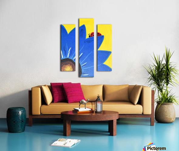 Blue Lady Bug. Maggie Z Canvas print
