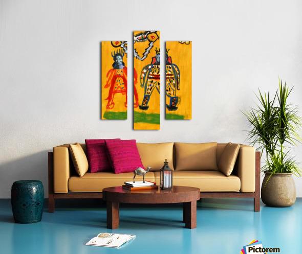 Klimt inspiration. Clyde O. Canvas print