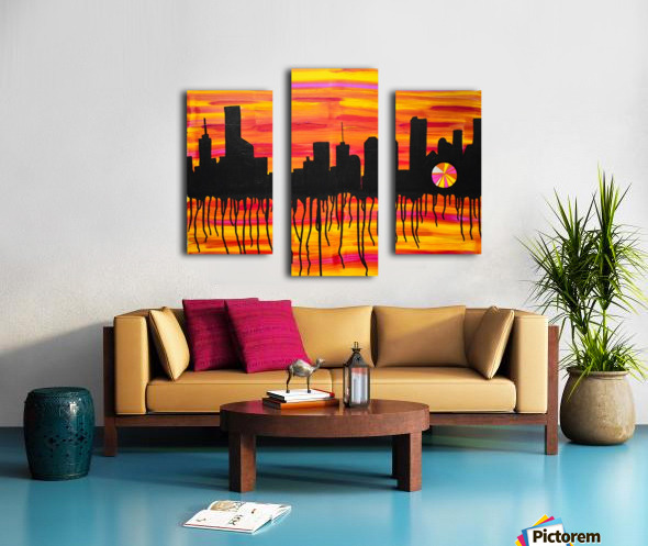Melting City. Maggie Z Canvas print