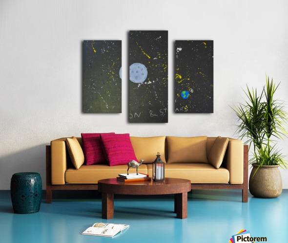 Moon and Stars. David R Canvas print