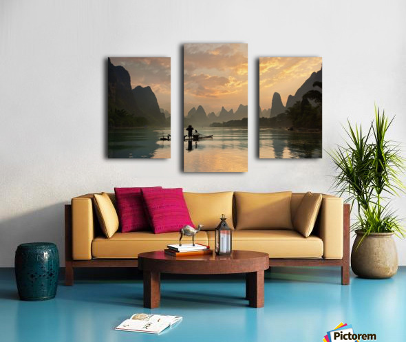 Golden Li River Canvas print