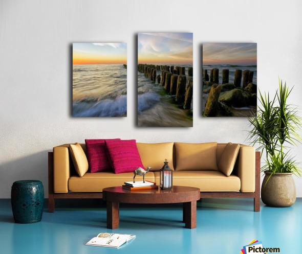 Lace sunset Canvas print