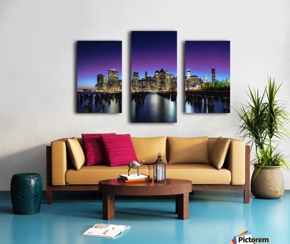 New York Sky Line Impression sur toile