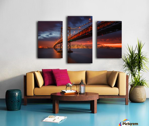 Fire over San Francisco Canvas print
