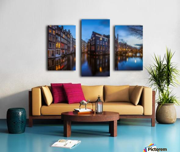 Blue Amsterdam Impression sur toile