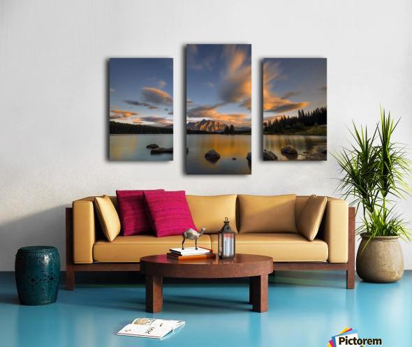 Two Jack Lake Sunset Canvas print