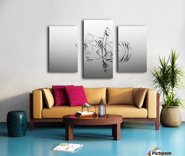 Angelfishes Canvas print