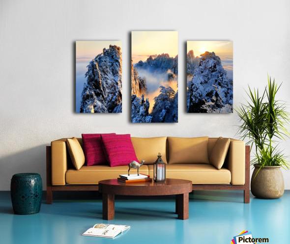 Sunrise at Mt. Huang Shan Canvas print