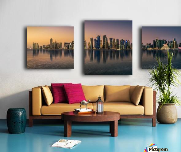Doha reflections Canvas print