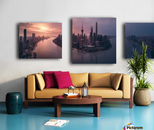 Flying Shanghai Canvas print