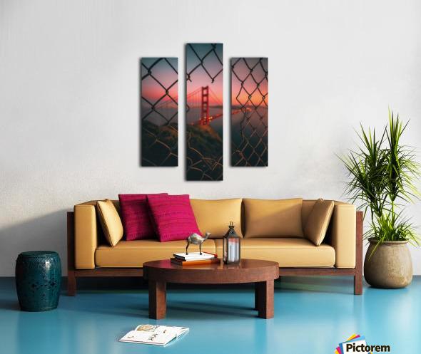 Golden Gate Caged Impression sur toile