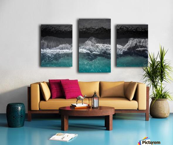 black beach Canvas print