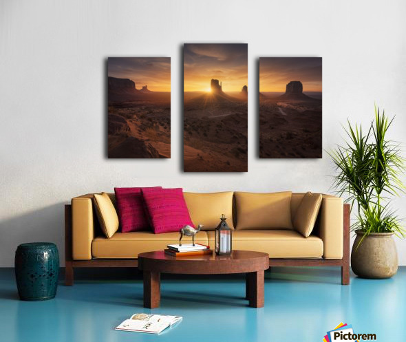 Monument Sunrise. Canvas print