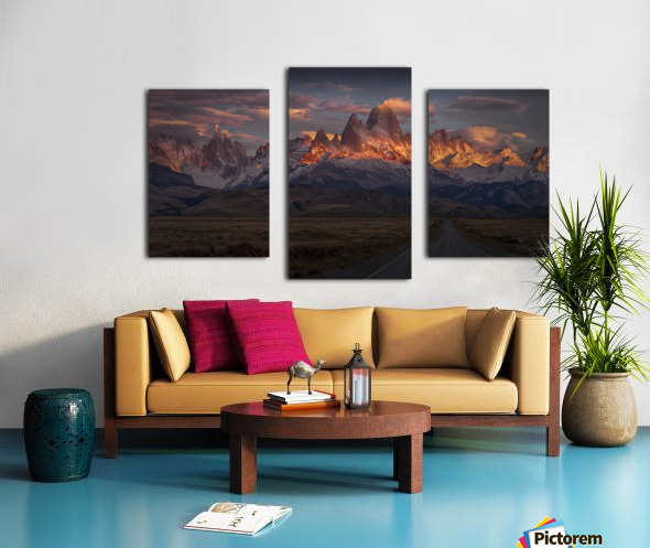 Burning peak Canvas print