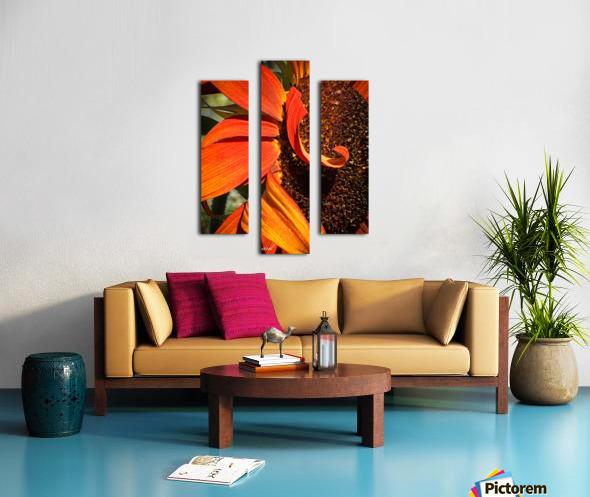 Sun Flowing flowers  Impression sur toile