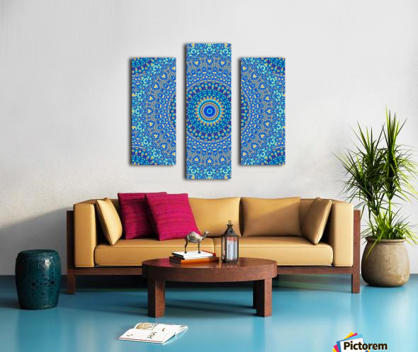 Mandala_5A Canvas print