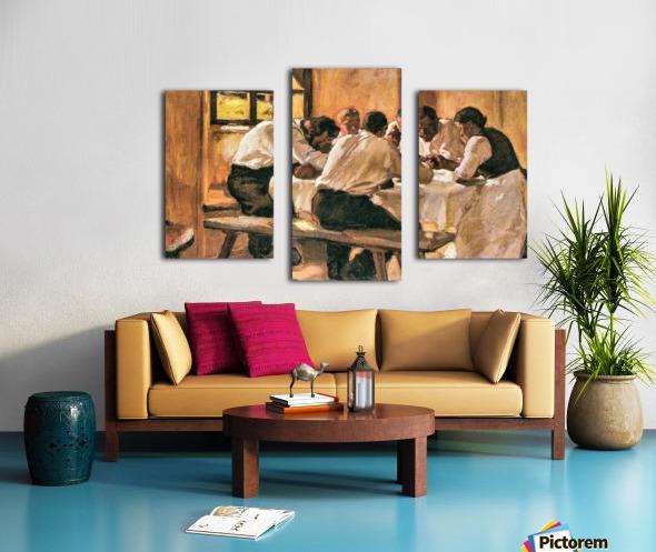 Lunch by Albin Egger-Lienz Canvas print