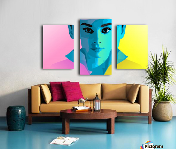 Pop Art Audrey Portrait Canvas print