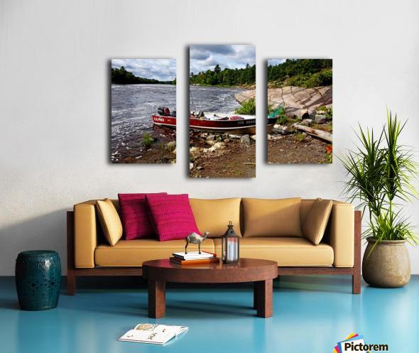 Fishing And Exploring Canvas print
