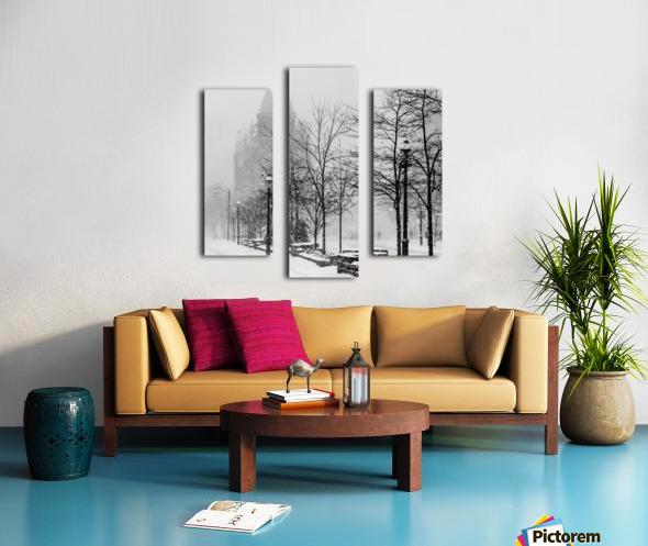 Gooderham in Winter Canvas print