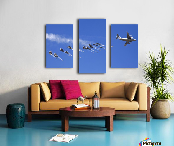 A C-17 Globemaster ejects a supply load of pallets during Operation Koranai Permakhtag. Canvas print