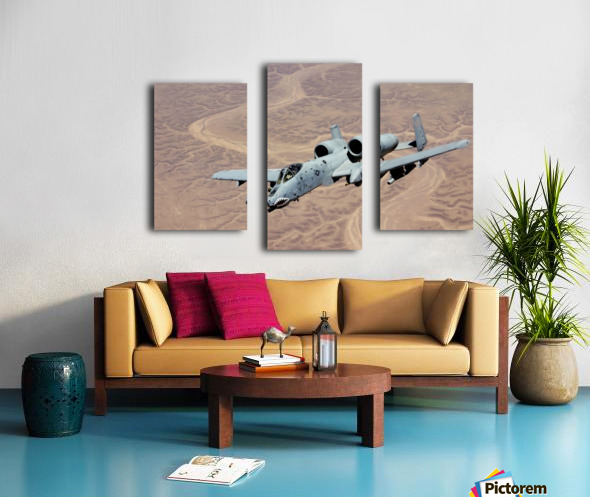 An A-10 Thunderbolt soars above the skies of Iraq. Canvas print