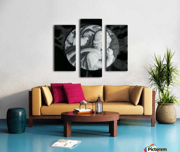 Cameo glass disc  Canvas print