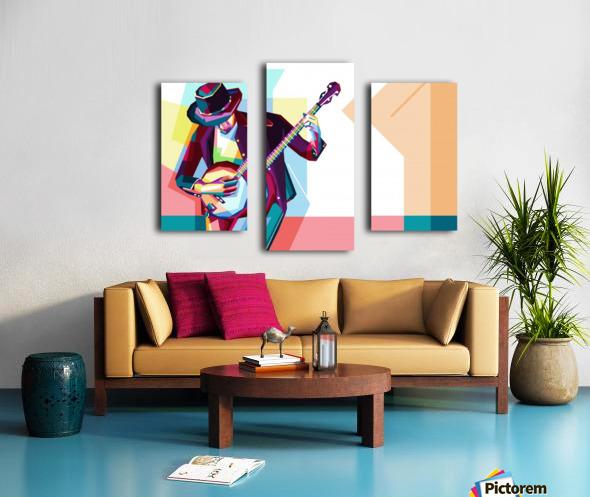 GUITAR MAN Canvas print