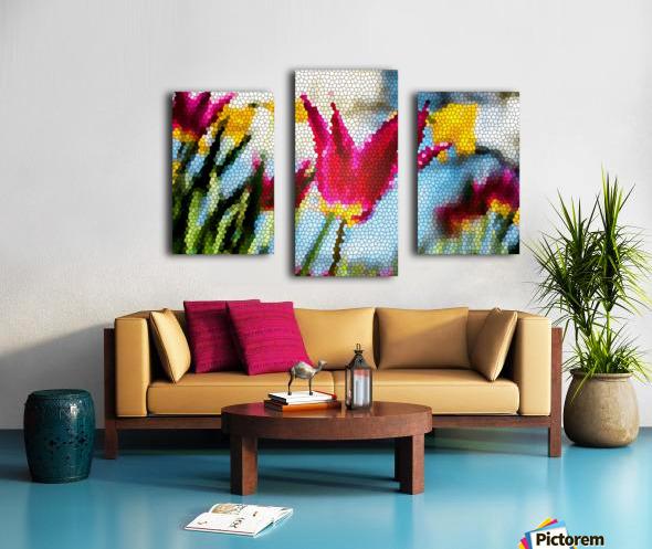 Tulip Mosaic Canvas print