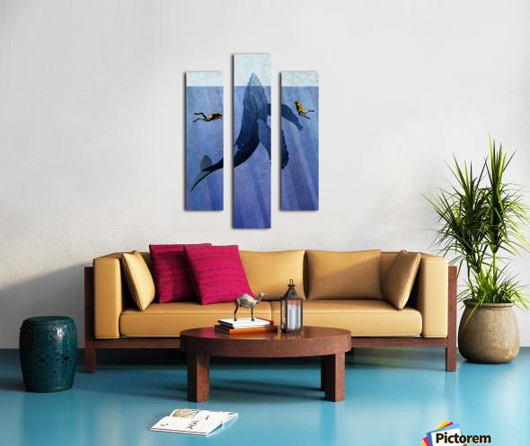 Scuba Dive with Whale Canvas print