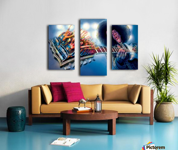 Jimi Hendrix by Krzysztof Grzondziel Canvas print