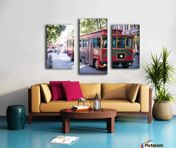 Vancouver Trolly Canvas print