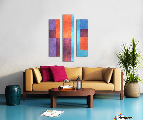 Abstract Geometric Space 3 Canvas print