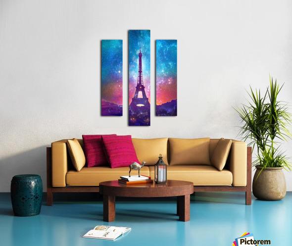 Eiffel Tower - Milky Way Collage Canvas print