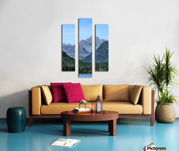 Peaks of Strathcona park Canvas print