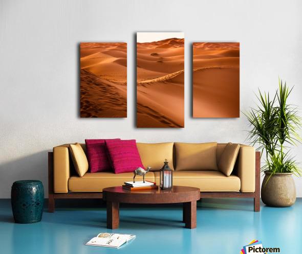 Beautiful Nature Landscape Hot Sun Desert Sahara Sand Dune Dunes Hot Climate Photography landscape photo Scenery Canvas print