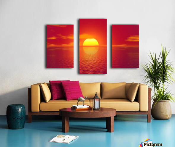 Beautiful Nature Landscape sunrise sunset sun Photography landscape photo Scenery Canvas print